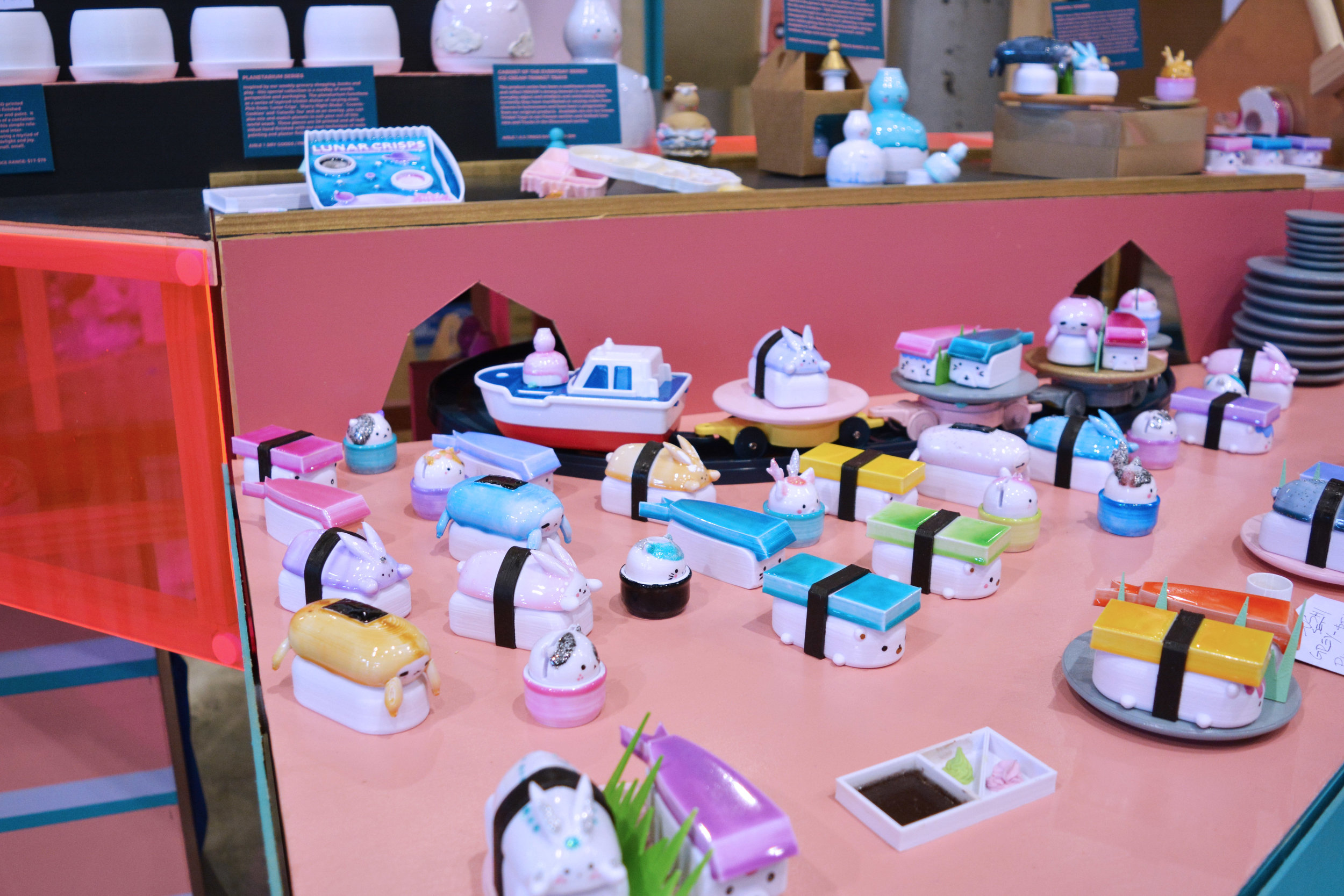Aisle 3 - Fresh food - Our Sushi train that lasts for a few hours.....