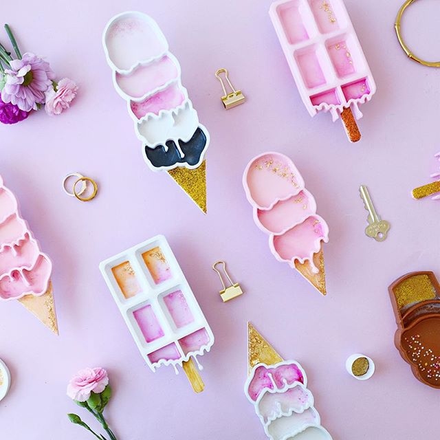 Happiness is this!!🍦💖. It's been a while since I got my hands sticky and dirty.  So happy to share our Ice Cream dishes are back! 🌈💛Have a lovely week✨💛.. #mimaw #mimaworkshop #3d #fun #play #icecream #sweet #pastel #cute #buzzfeed #buzzfeedfood #ohwowyes #love #abmcrafty #3dprinting #abmlifeiscolorful #pink #confetti #sprinkles #handmade #etsy #etsyau #madeinmelbourne