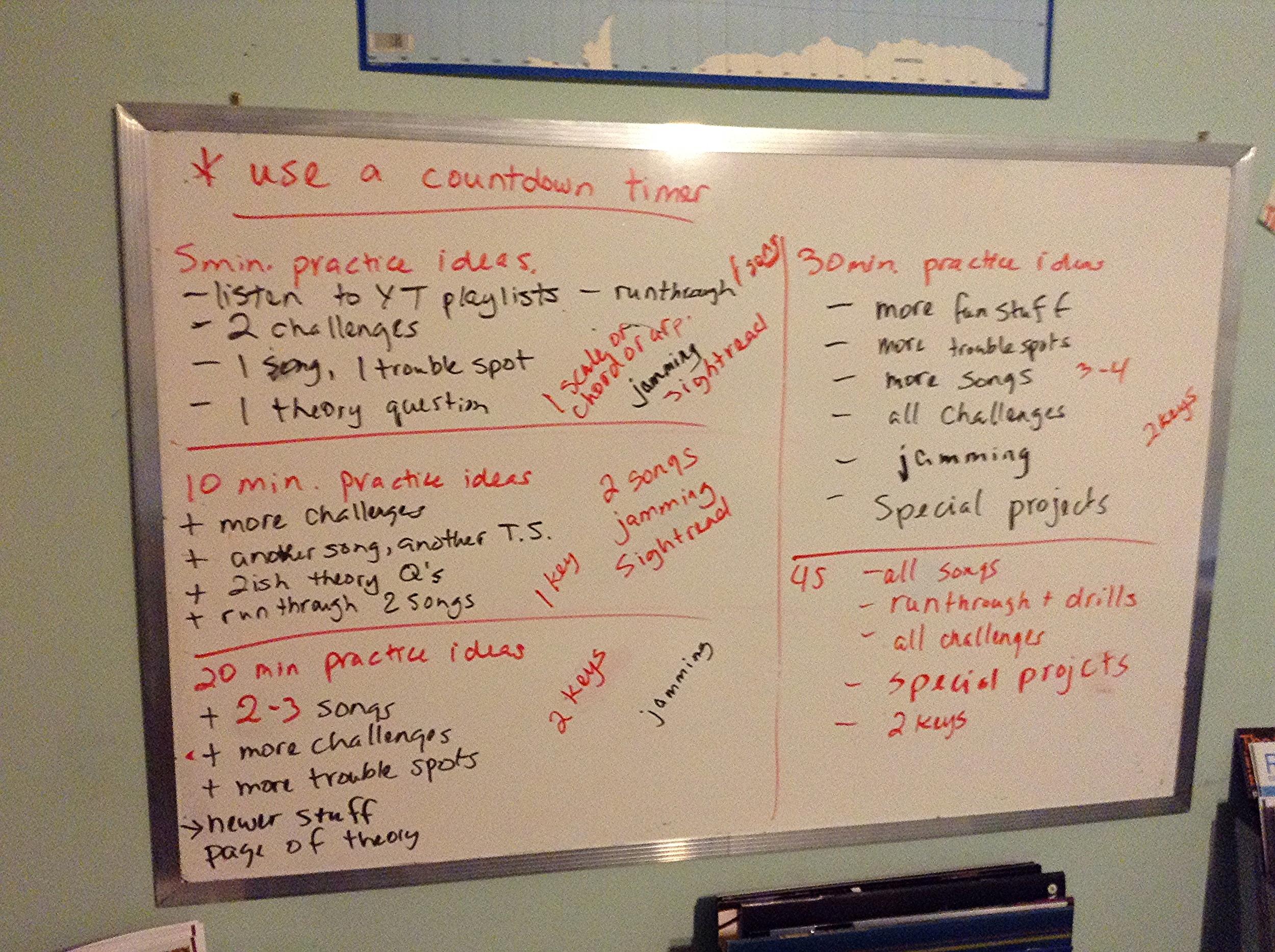 Practice Planning Ideas