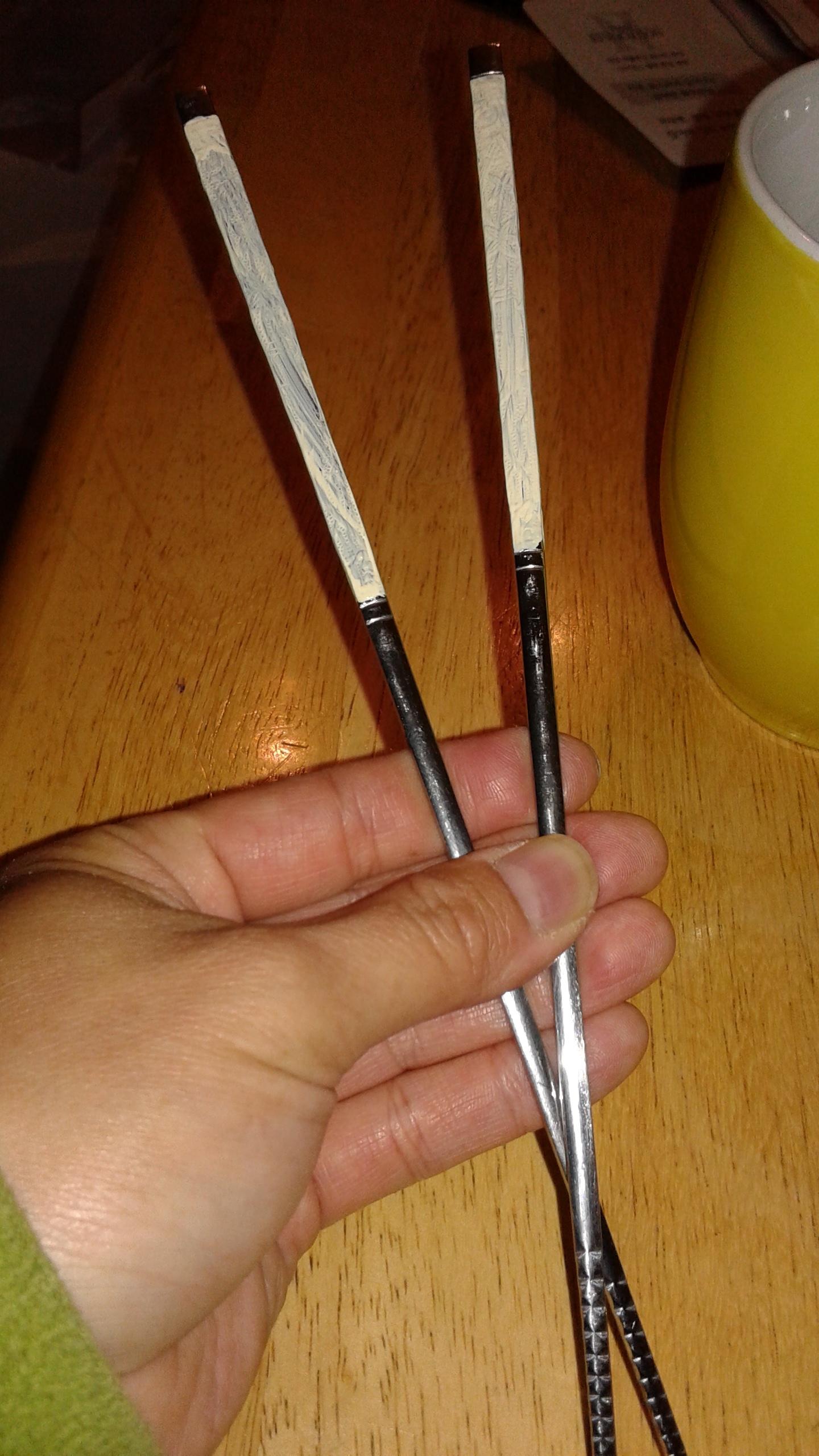 DIY Sword Hair Sticks Step 2