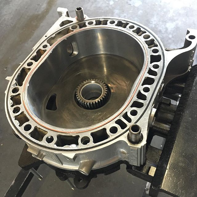 Street port 12a is all cleaned up and ready for assembly. We are excited to announce we are offering in-house rotor housings surfacing as a service! We have used the process in multiple street cars and track cars with outstanding compression results! #mazda #rotary #rotaryengine #longlivetherotary #longlivetherotaryengine #RX7 #12a #12arotary #wankel #brap #streetport #racingbeat #atkinsrotary