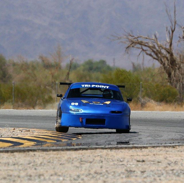 @semisecretsauce doing some landscaping while putting down some seriously fast lap times! This little #tripointbuilt street car won 1st place in @xsroadstercup unlimited class beating out the trailed around racecars! Final time was a 2:01.3 and only two-hundredths off fastest time of the day! #tripointengineering #tripointmotorsports #teamtripoint #roadstercup #extremespeedtrackevents #topmiata #trackmiata #158whp #onenine #trackproven #goodwinracing #koyorad
