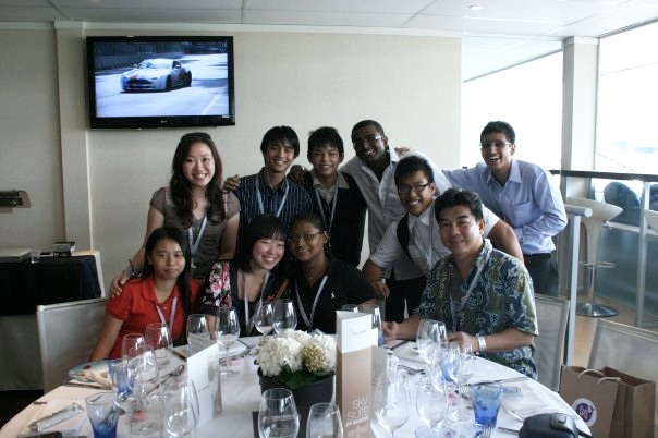Dare to Dream buddy mentor program kickoff at the Formula 1 Corporate Suites.