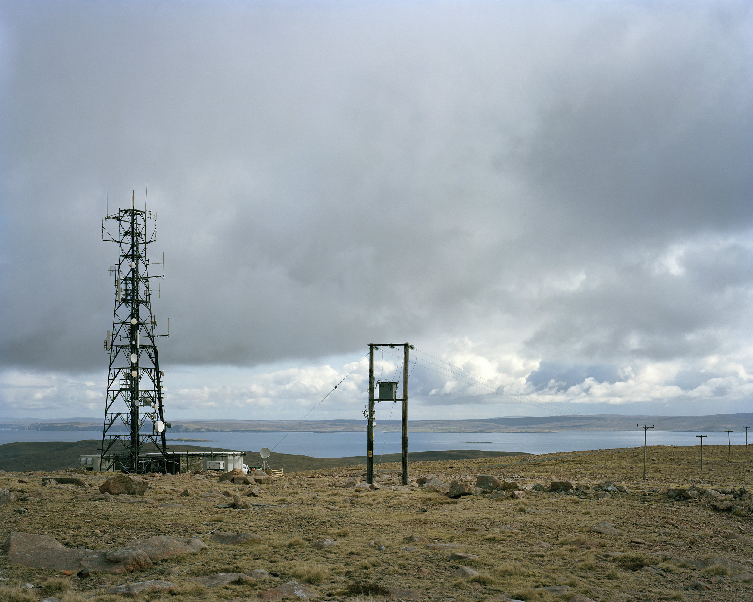 Collafirth Hill, area of former NATO ACE high radio transmitter from the cold war
