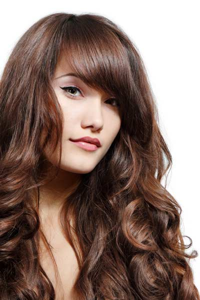 Thick Bangs - Thick bangs are a great way to accentuate the eyes. This style can be worn with long or short hair. Our amazing team at The Lounge & Co hair salon, Ormiston can help you create a cosmic look with thick bangs.
