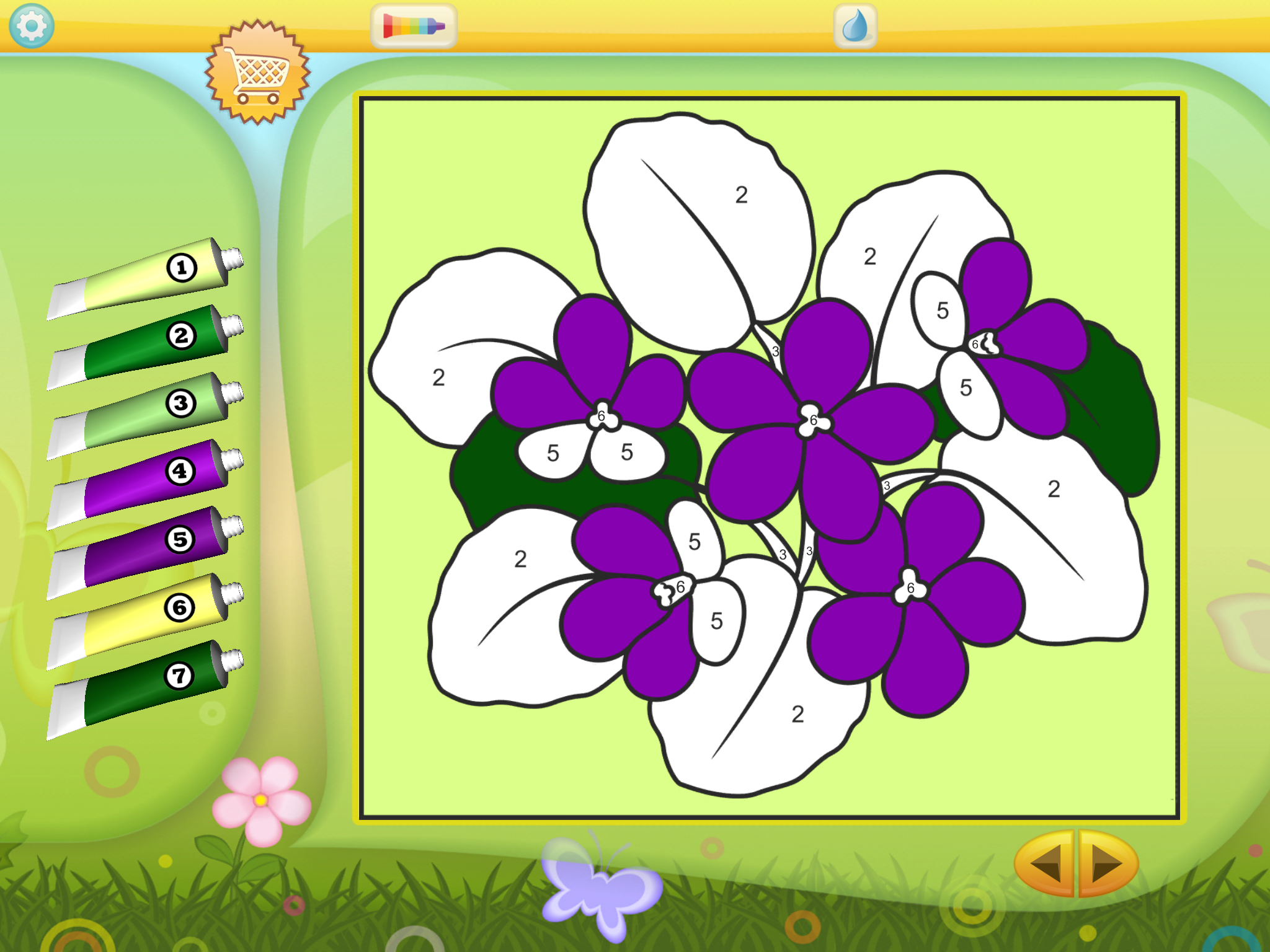 Color By Numbers - Flowers by KEDRONIC UAB, recommended app for people living with dementia