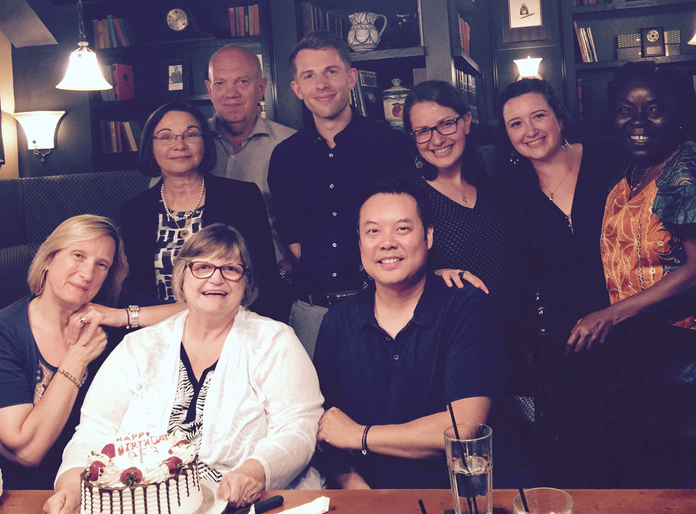 AcTo Dementia researchers Phil Joddrell and Arlene Astell with friends and colleagues in Toronto, Canada
