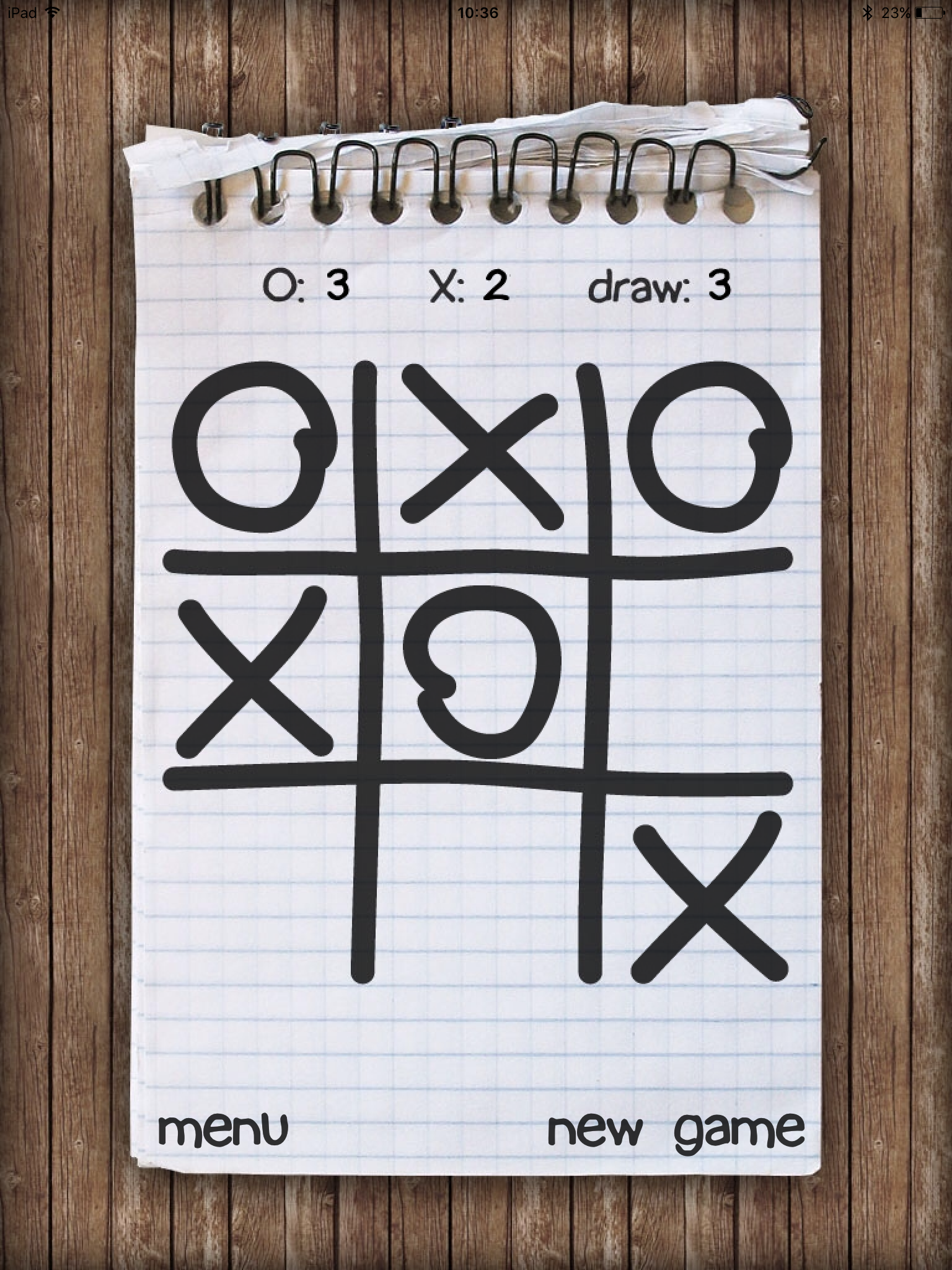 Tic-Tac-Toe Notepad by Paulo Antunes, recommended app for people living with dementia