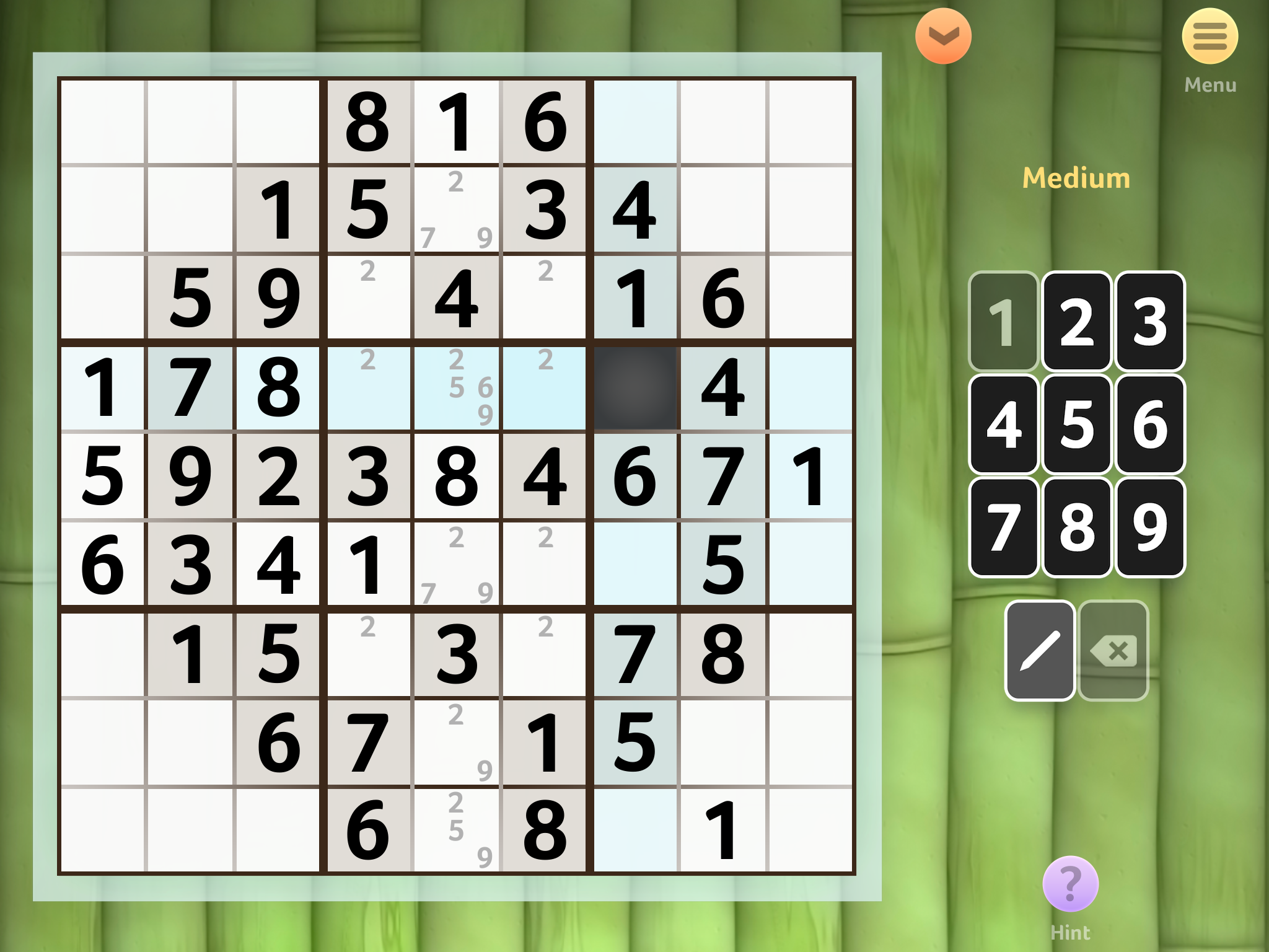 Sudoku by Brainium, recommended app for people living with dementia