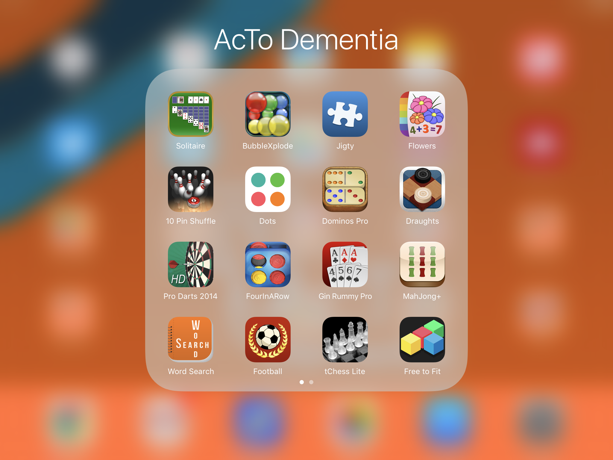 AcTo Dementia - accessible touchscreen apps for people living with dementia