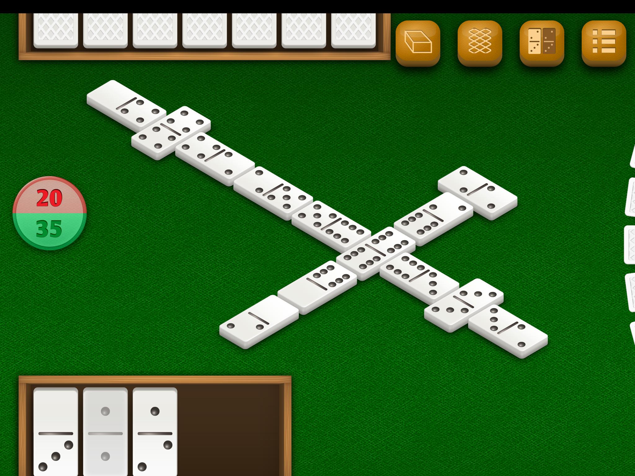 Dominos by DoraLogic, dementia-friendly app (alternative display 1)
