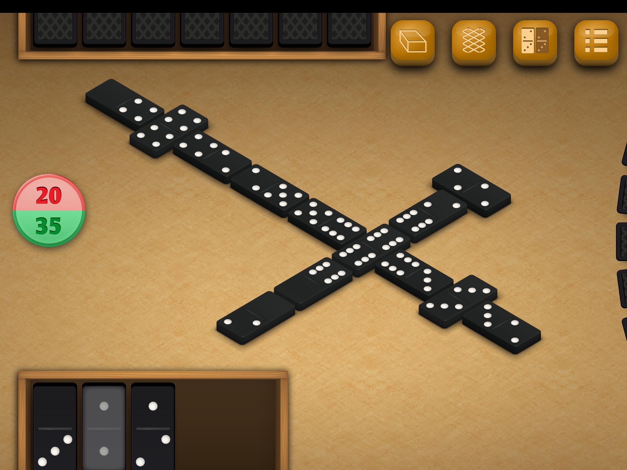 Dominos by DoraLogic, dementia-friendly app (alternative display 2)
