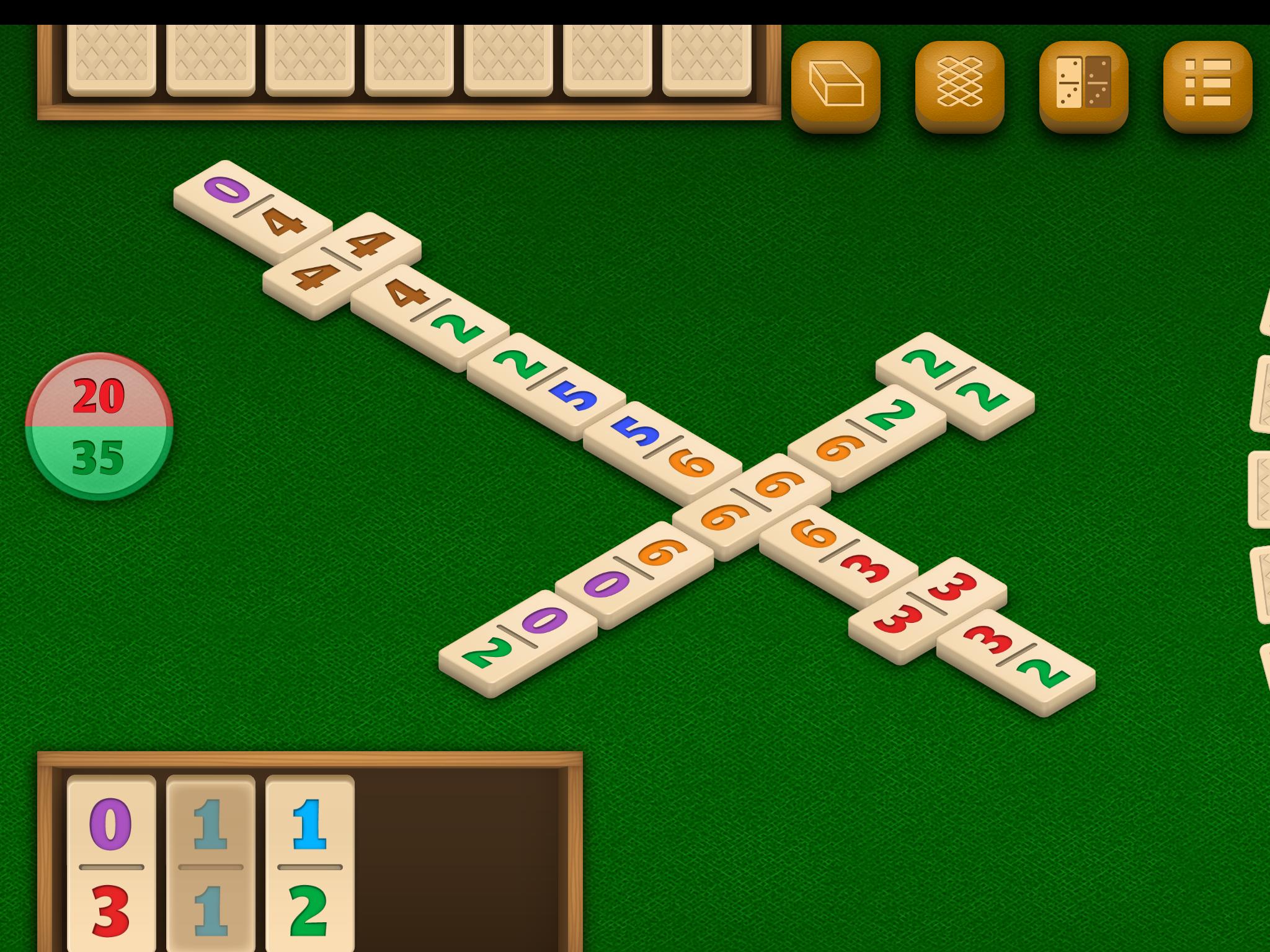 Dominos by DoraLogic, dementia-friendly app (alternative display 3)
