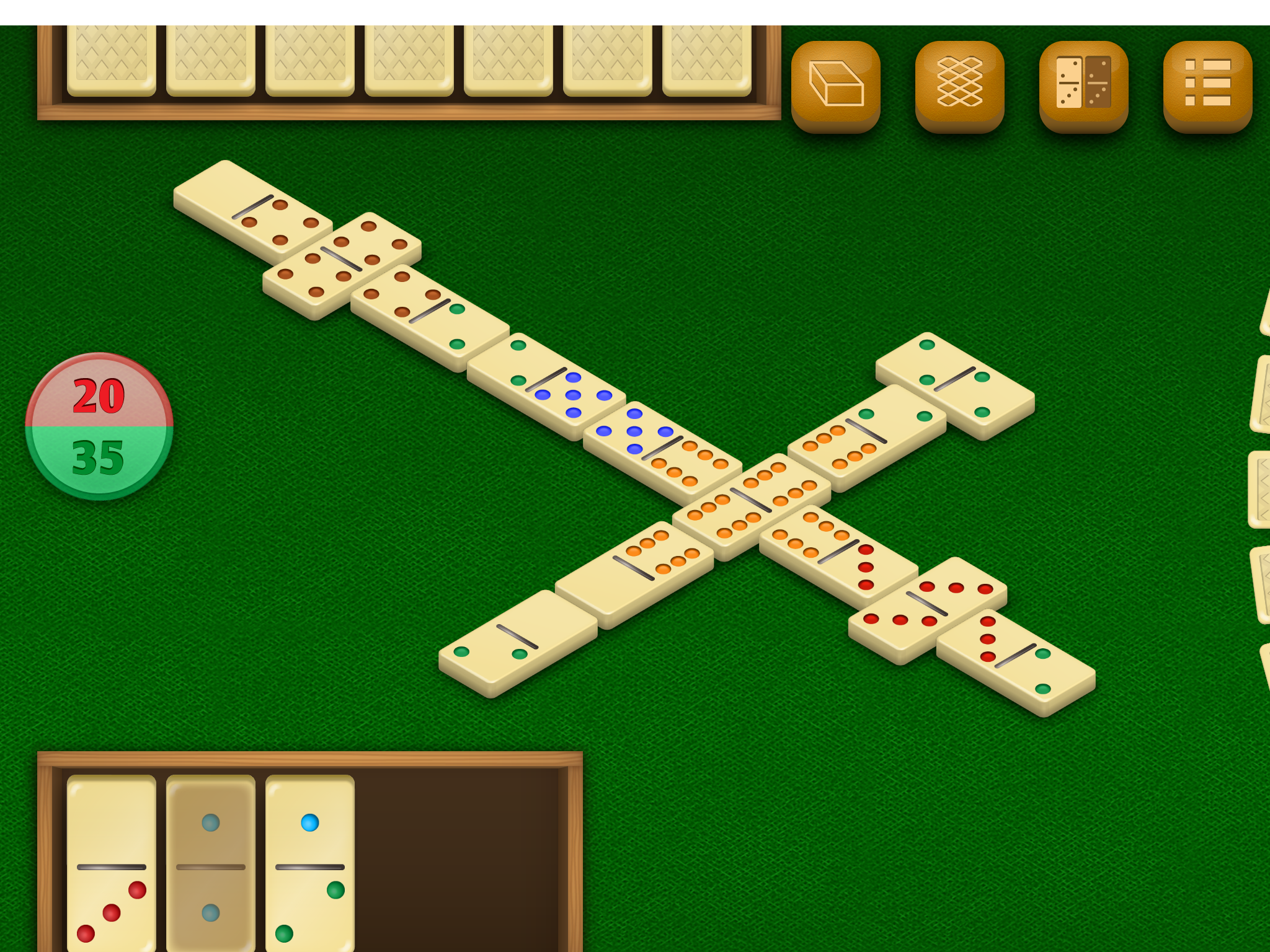 Dominos by DoraLogic, recommended app for people living with dementia