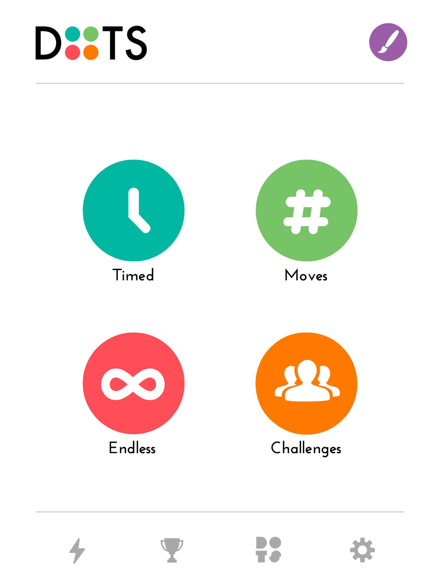 Dots: A Game About Connecting app launch screen