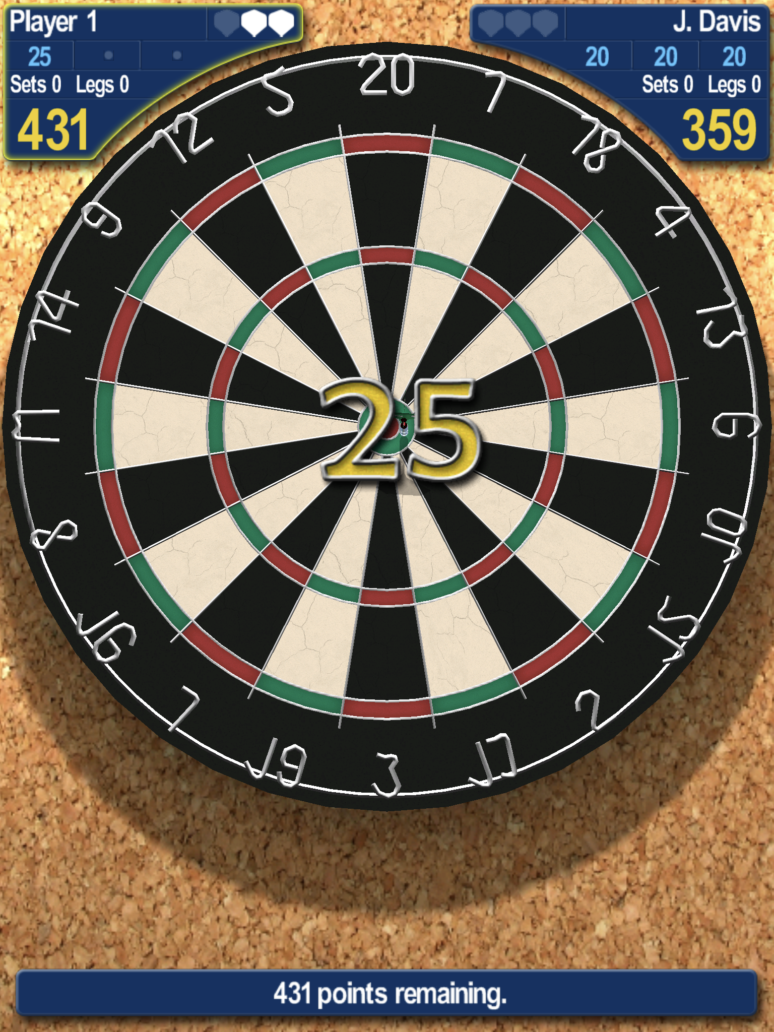 Pro Darts 2014 by iWare Designs Ltd., recommended app for people living with dementia