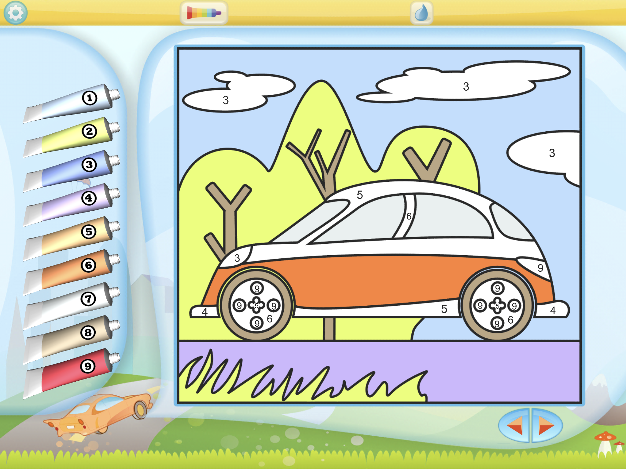 Color By Numbers - Vehicles by Kedronic UAB, recommended app for people living with dementia