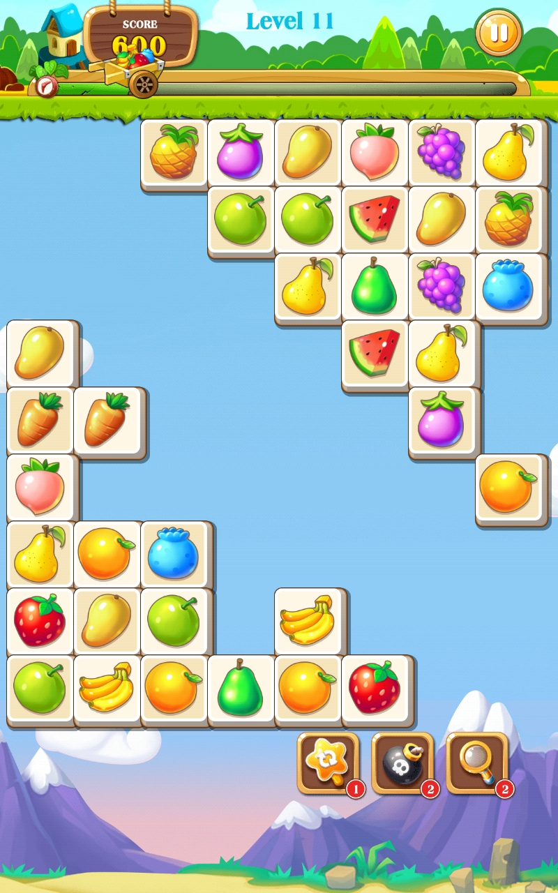Onet Fruit by Free Puzzles, recommended app for people living with dementia