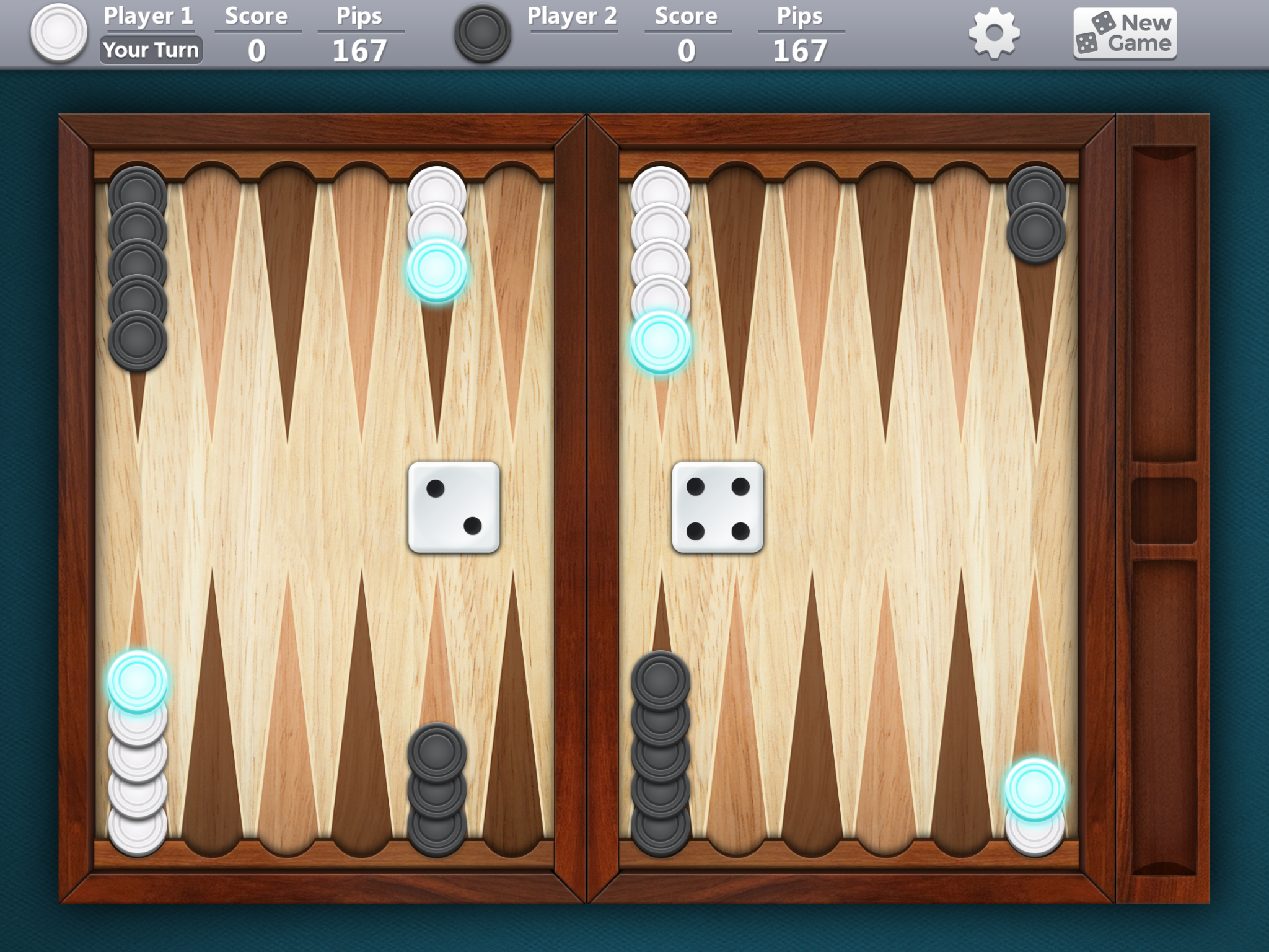 Backgammon by Banana & Co, recommended app for people living with dementia