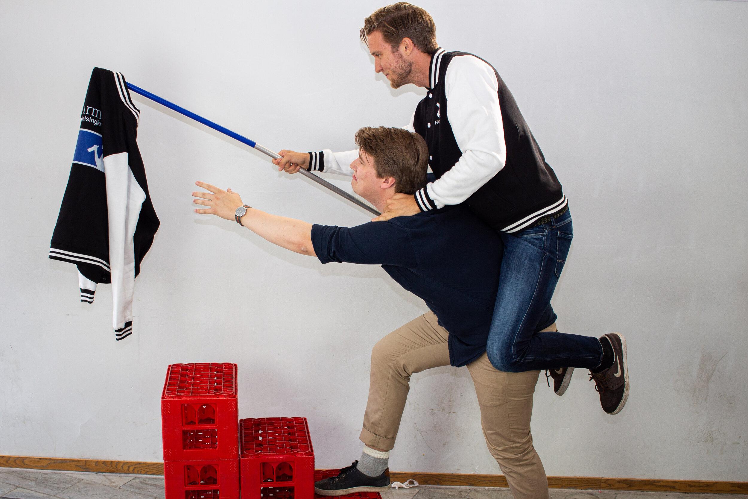 Filip Hultberg och Pontus Gersne Barmästare.