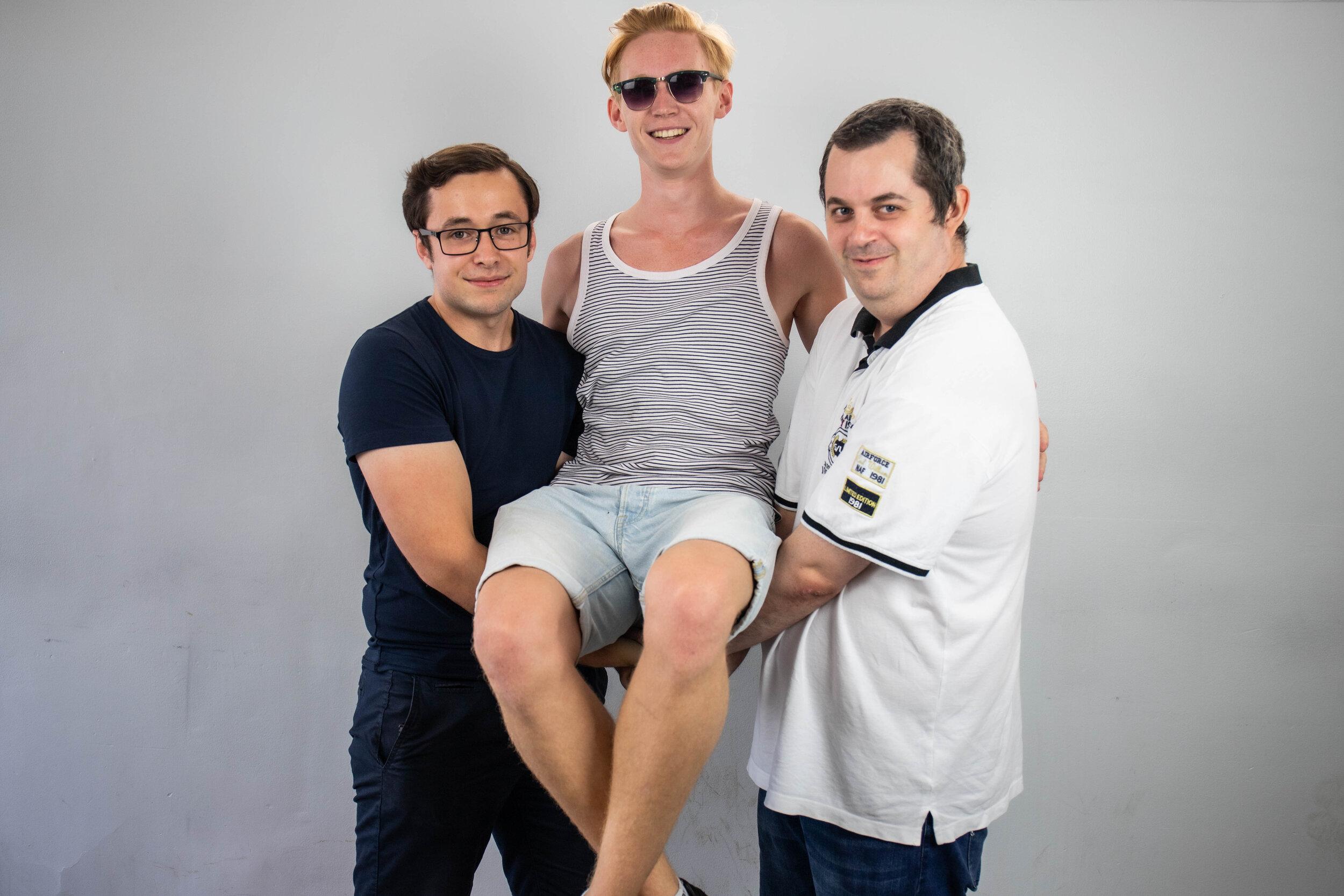 Erik Gullberg, Viktor Claesson och Johan Carling, IT-förmän.