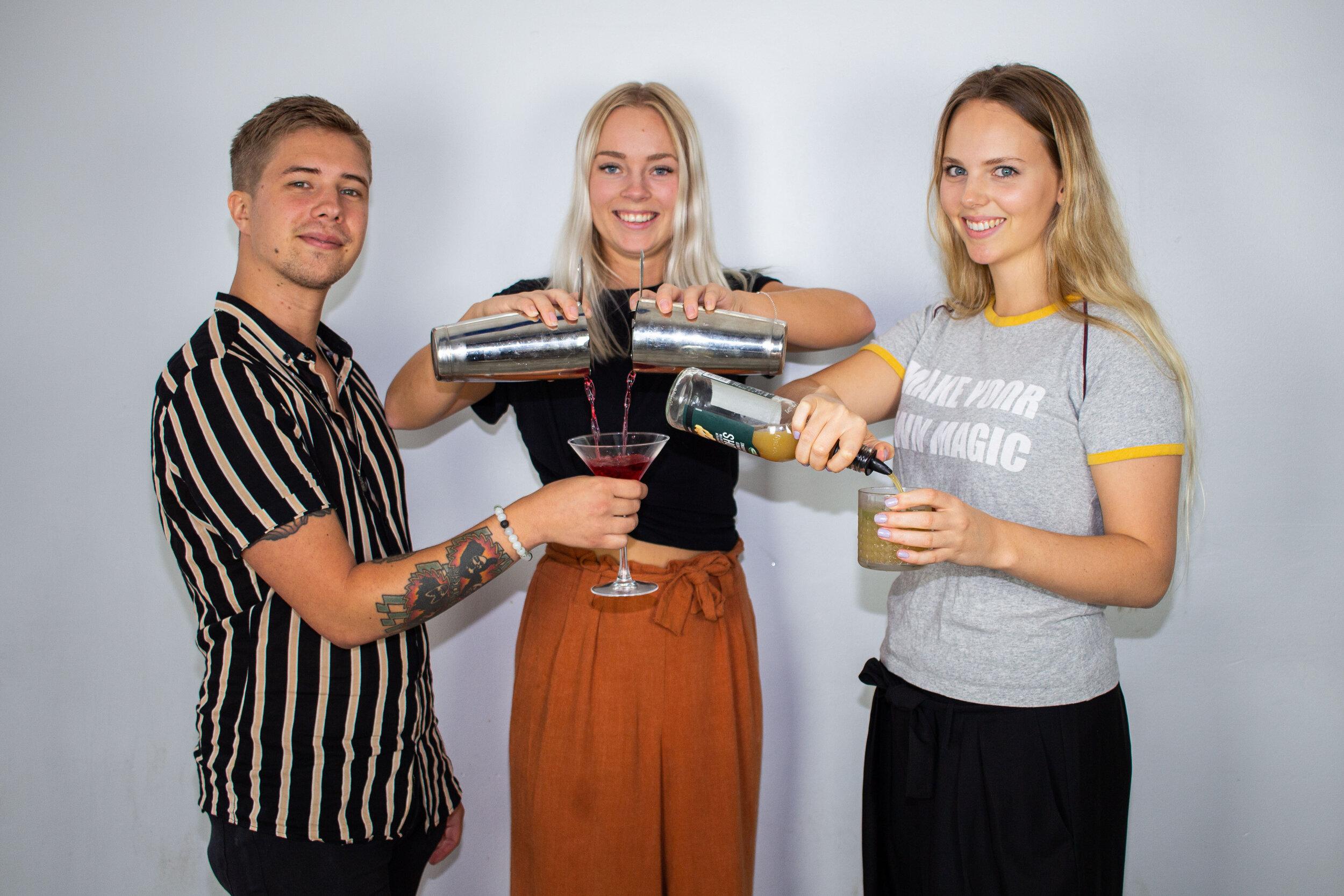 Jonathan Olsson, Sophia Carlsson och Isabelle Svensson