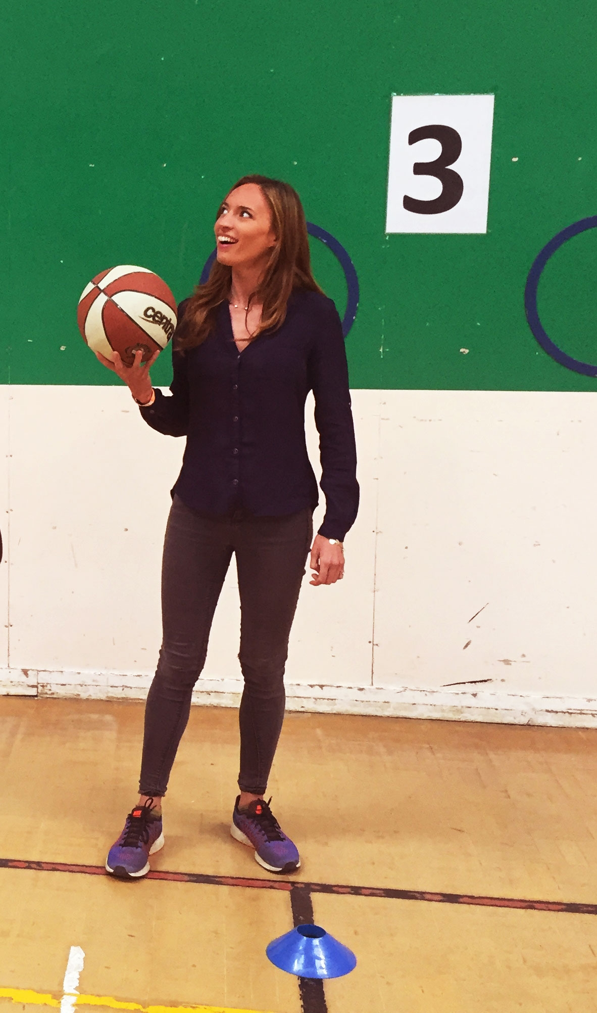 Bonita at a school particapating in a Play for Change sport programme