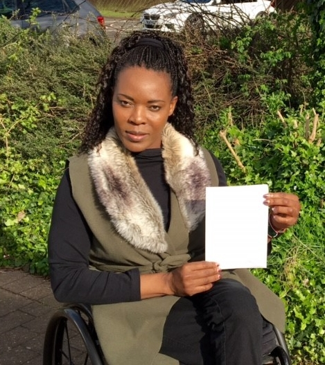 Anne participating in the #WhiteCard campaign for Peace and Sport's IDSDP17 campaign