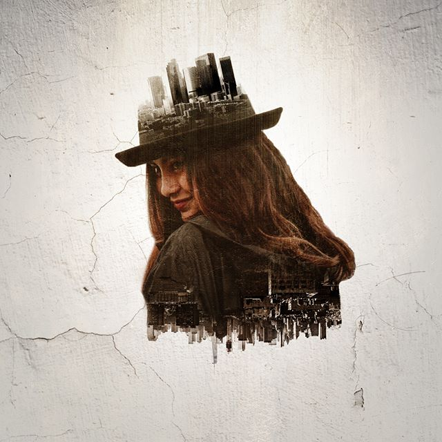 Double Exposure #doubleexposure #model #city #life #grunge #deconstruction #smile #happy #design #graphicdesign #adobe #inspiration #digitalart #art #graphics #layers #photoshop #art #experiment #woman #beauty #female #hat #creative #creativity #unsplash