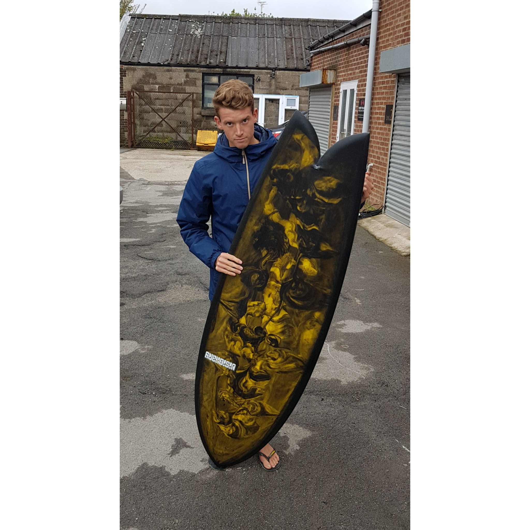 Josh's Custom Retro Fish Surfboard