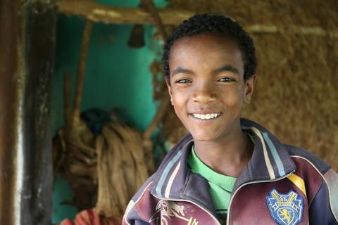 Gobena Benti, Chaltu's 12-year-old son. Image by WaterAid/Behailu Shiferaw