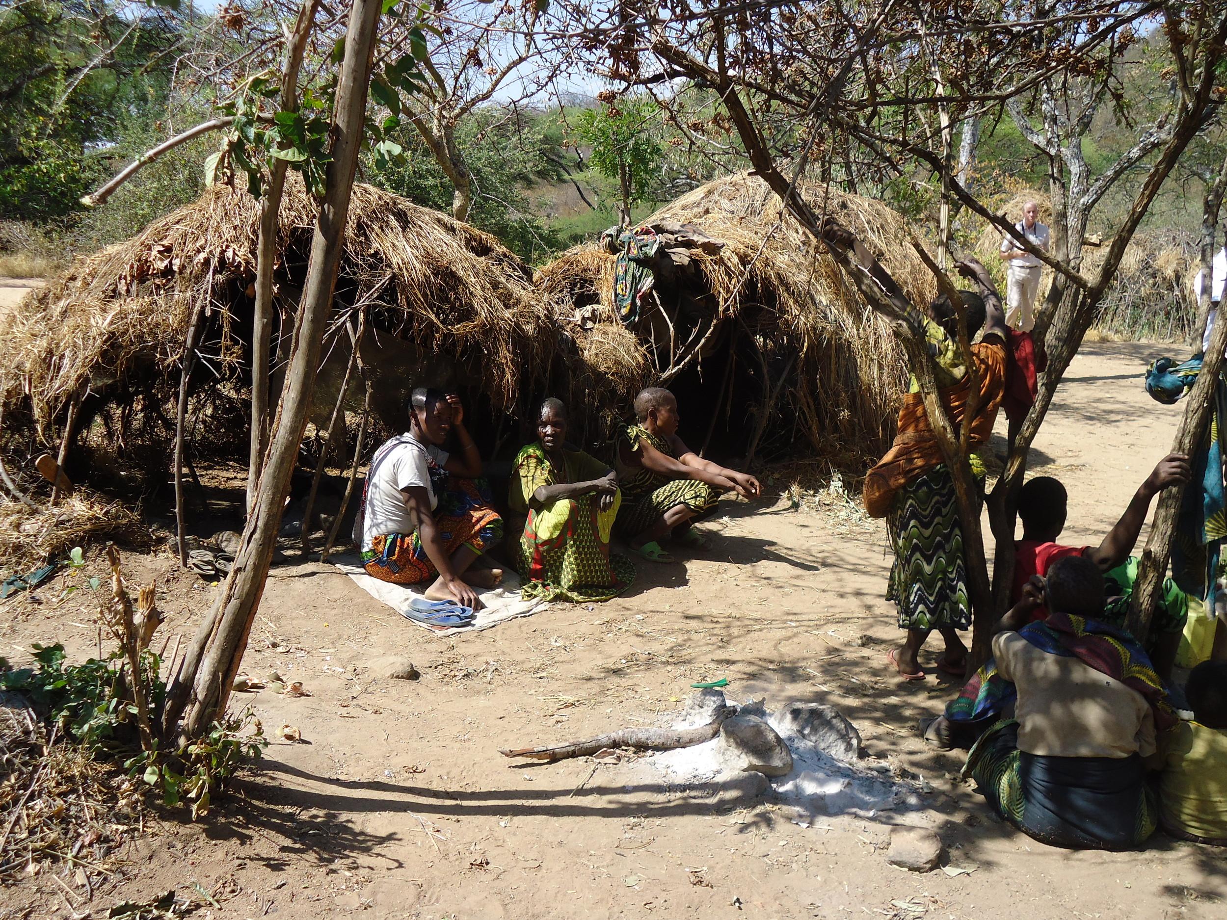 A Hadzabe community homestead, WaterAid