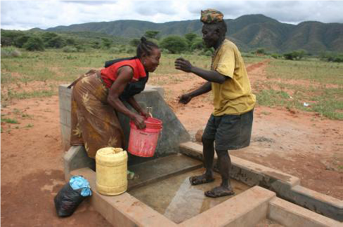 New water station, WaterAid