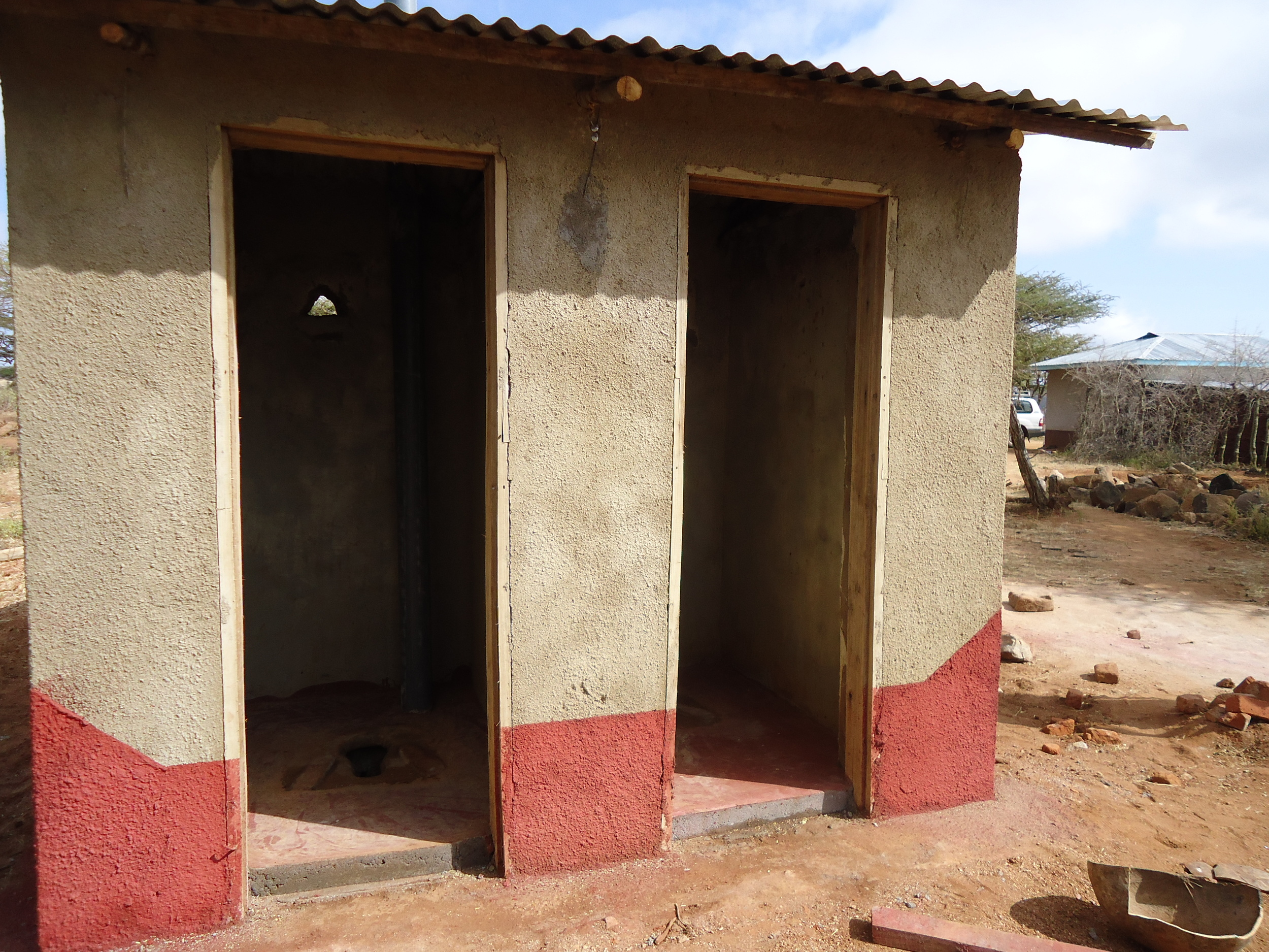 Improved latrine toilet, WaterAid