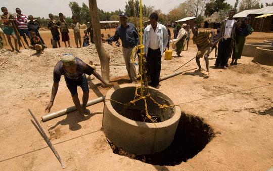 Hand dug well. Photo: charity: water