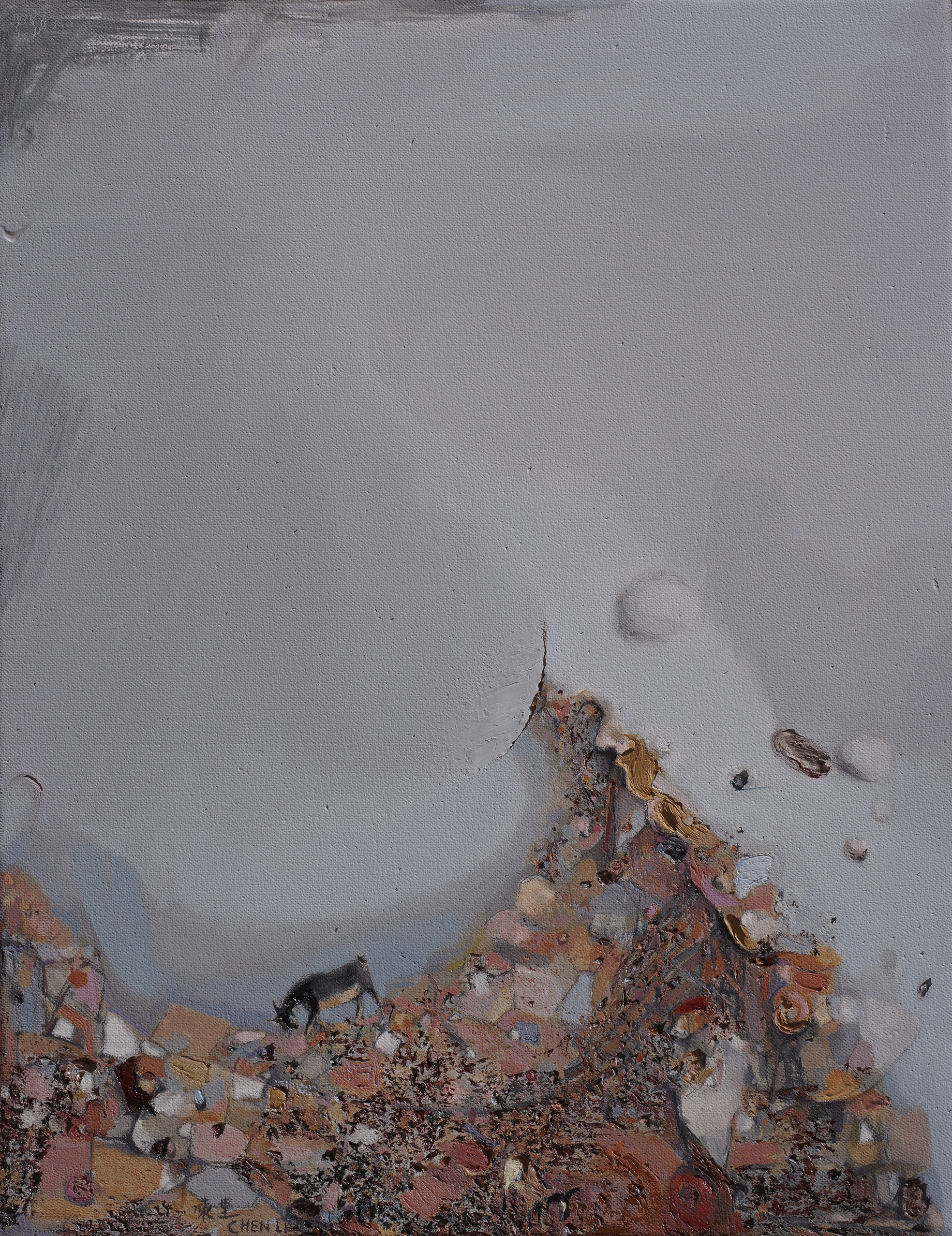 Chen Li, Dongchuan Mountains II, 2012, oil on canvas, 90cm x 70cm, private collection, United Kingdom