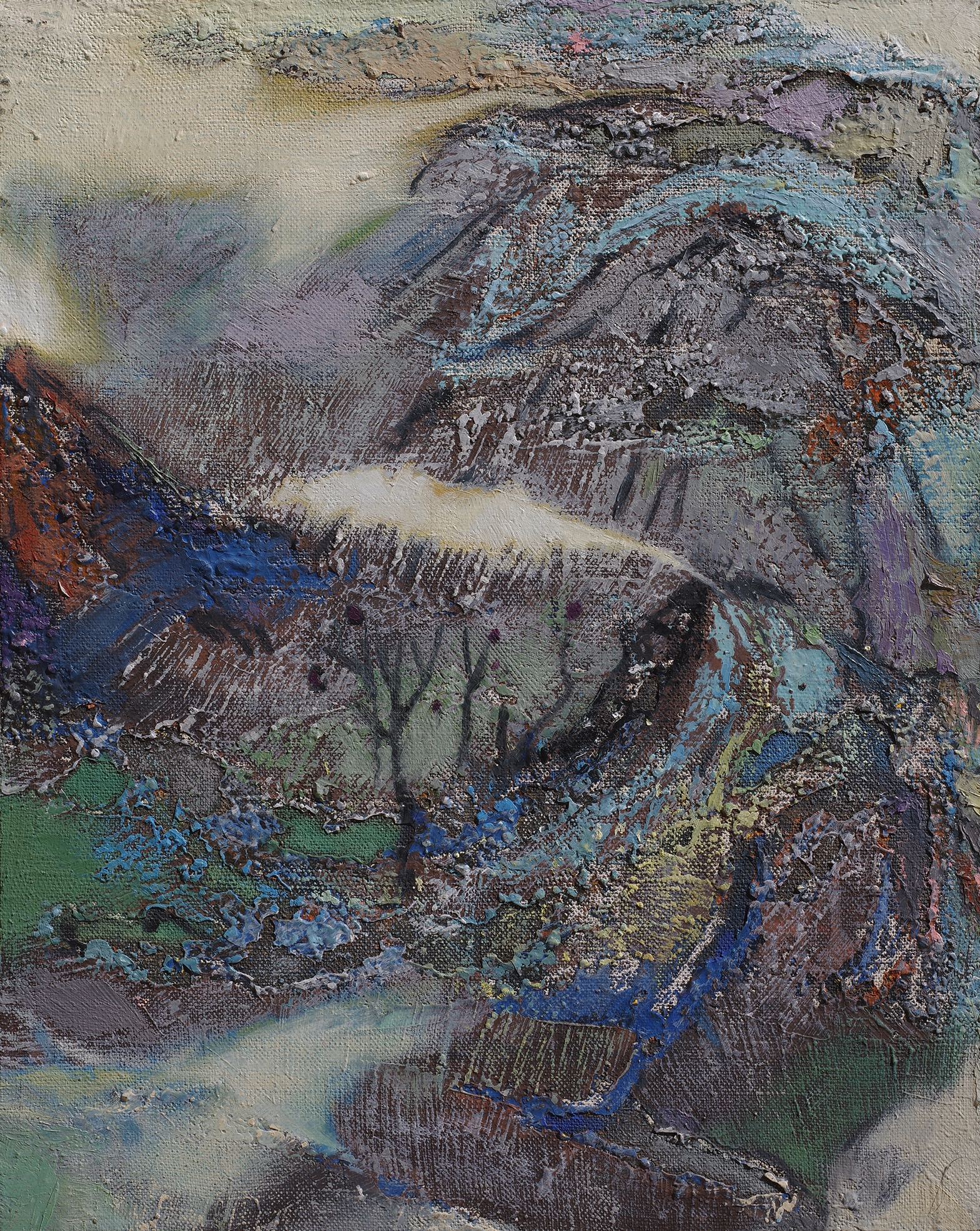 Chen Li, Spring Mountain, 2012, oil on canvas, 50cm x 40cm, private collection, United States