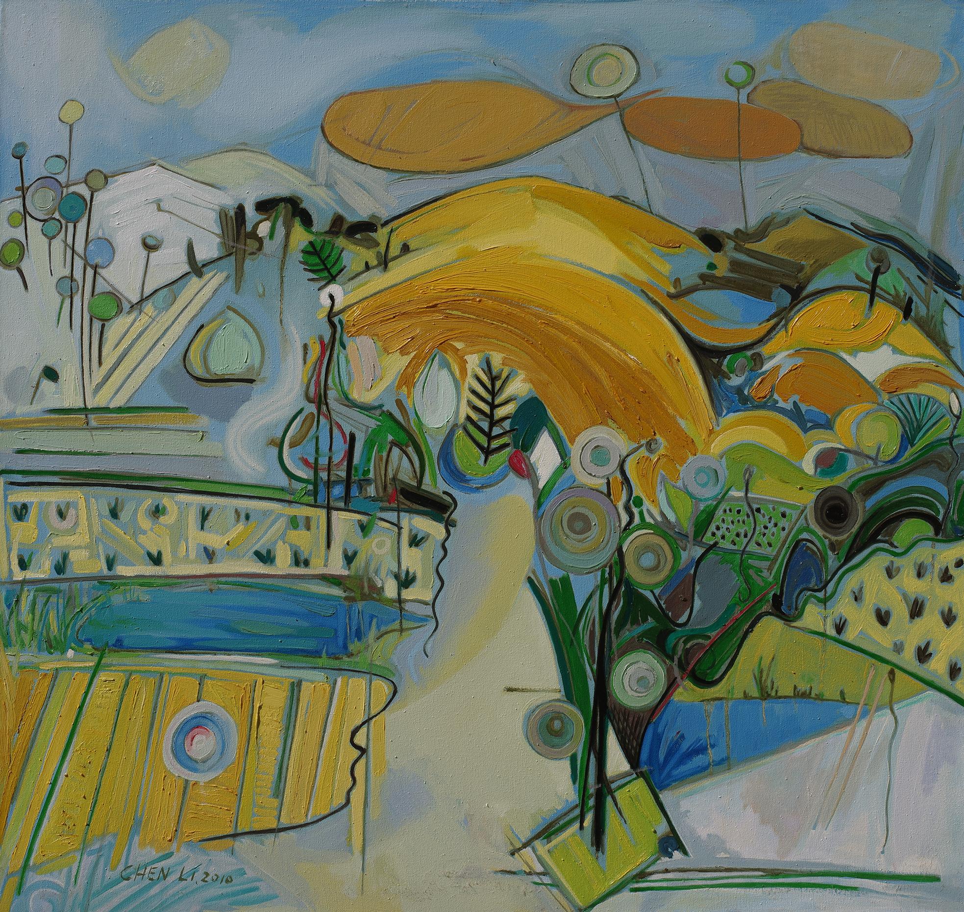 Chen Li, Happy II, 2010, oil on linen canvas