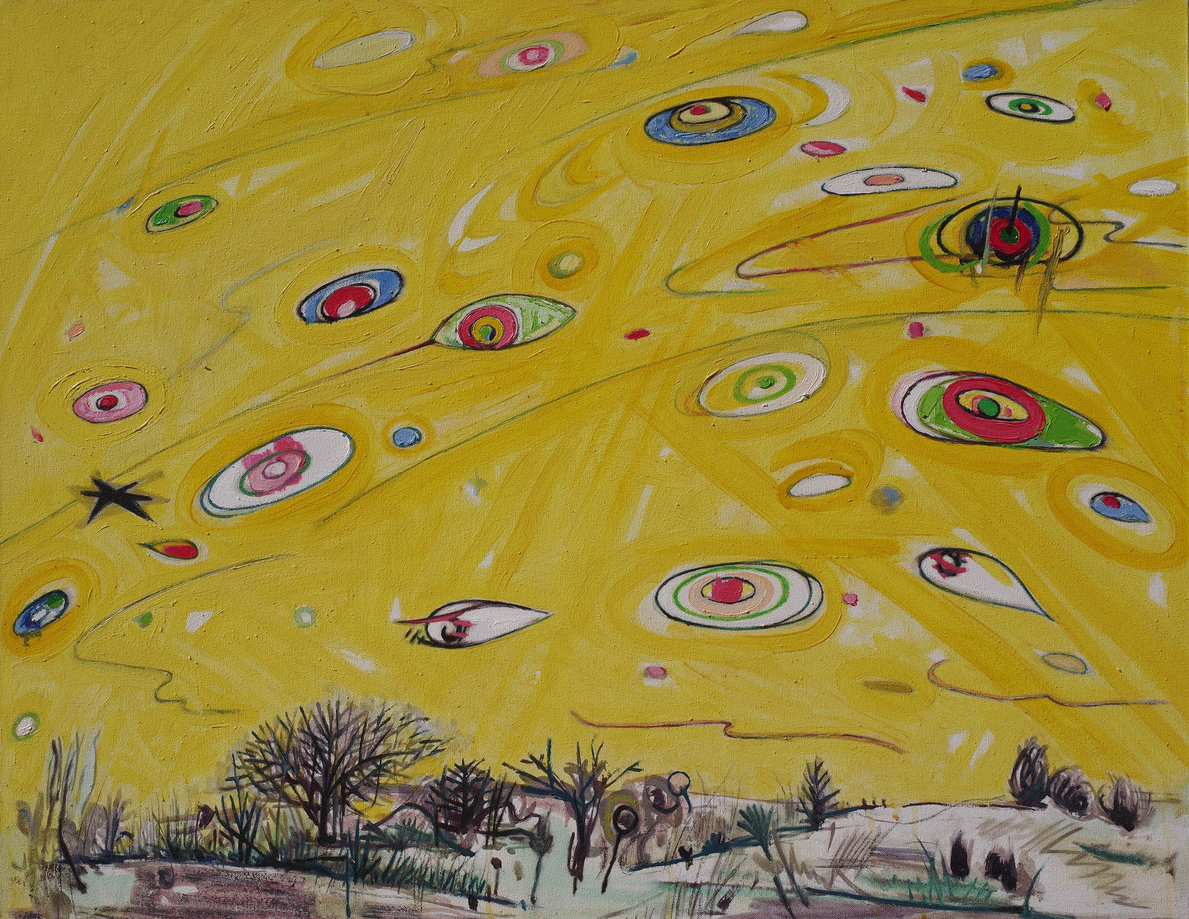 Chen Li, The Joyful Universe, 2010, oil on linen canvas, 90cm x 90cm