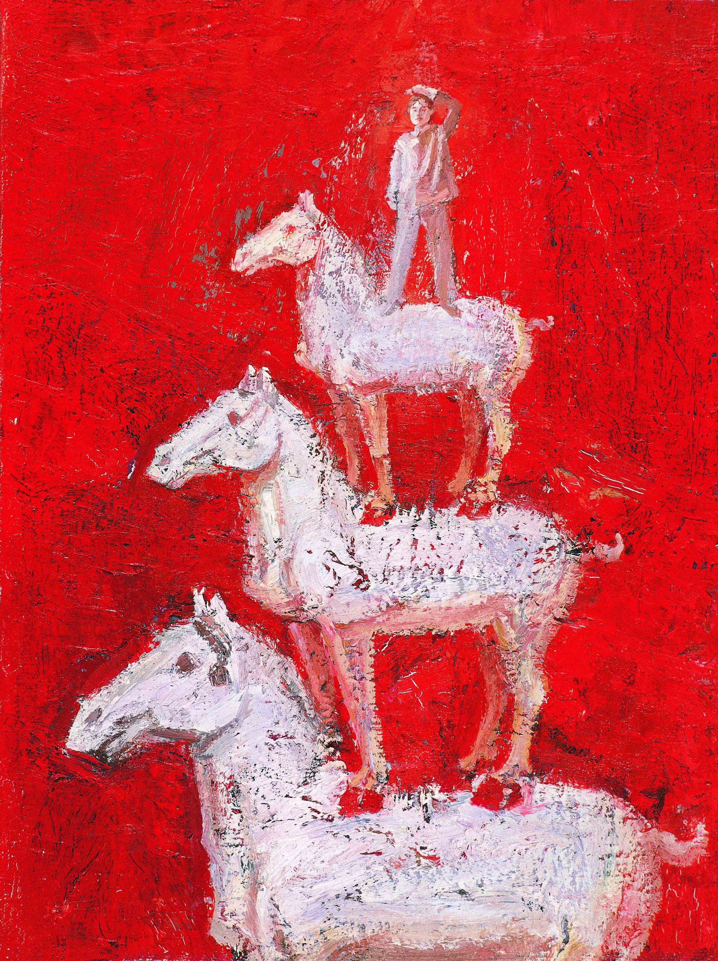 Gao Xiang,  Horse Pagoda , 2010, oil and acrylic on canvas, 61cm x 46cm