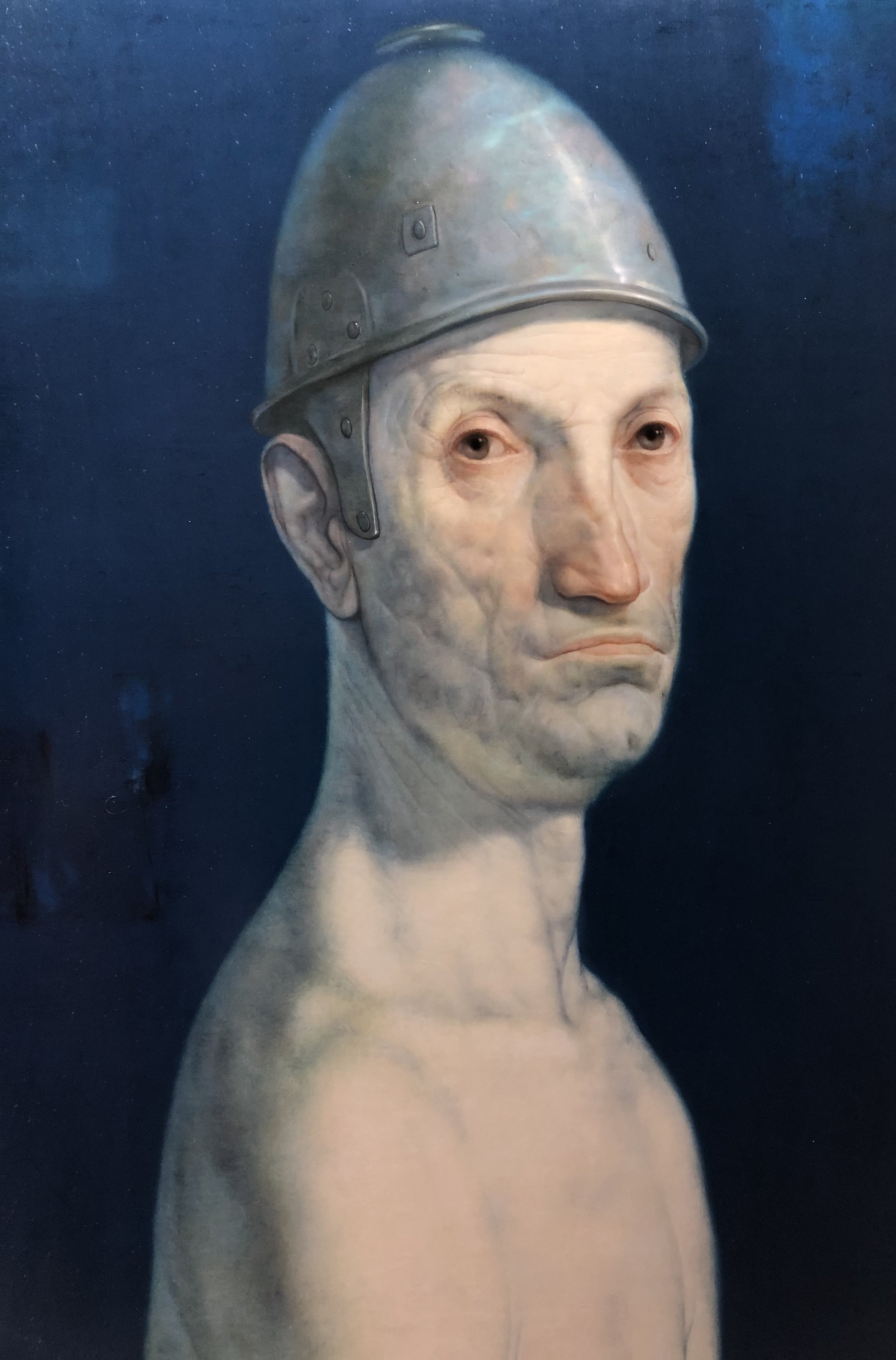 Mamuka Dideba (b. 1968, Georgia), Old Warrior 2018, oil on canvas