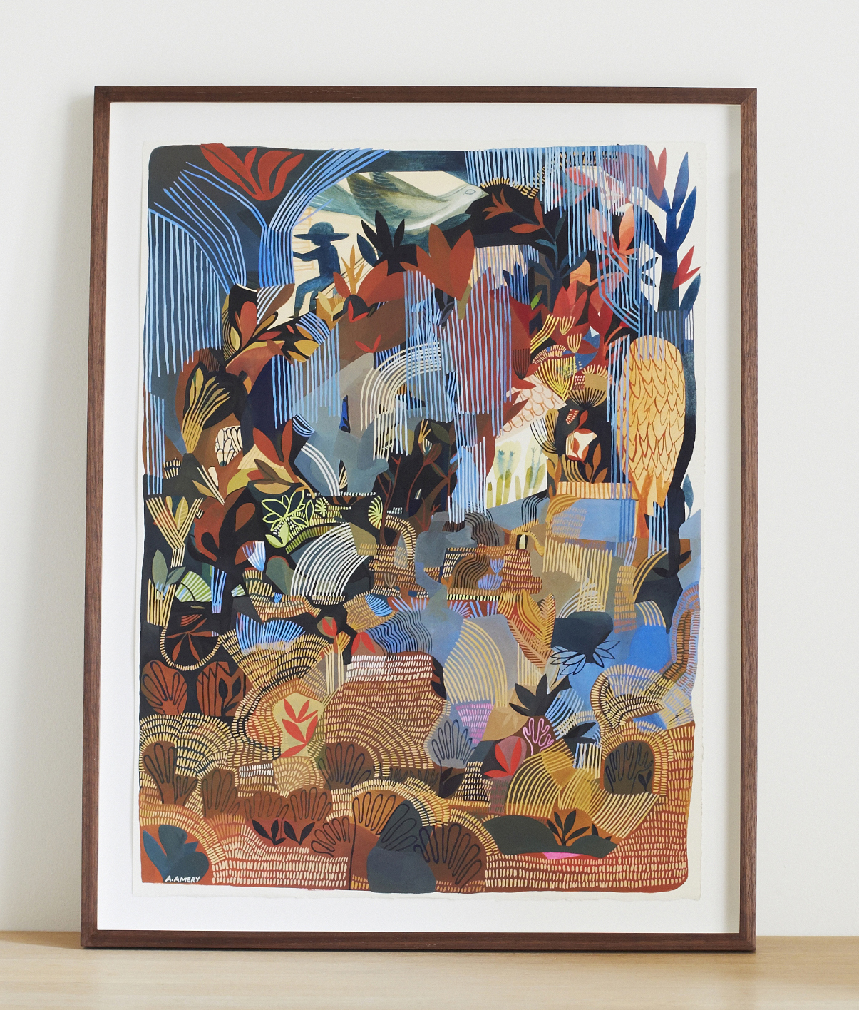 'The Gardener',Ashley Amery,2018,40 x 55 cm, Gouache on paper