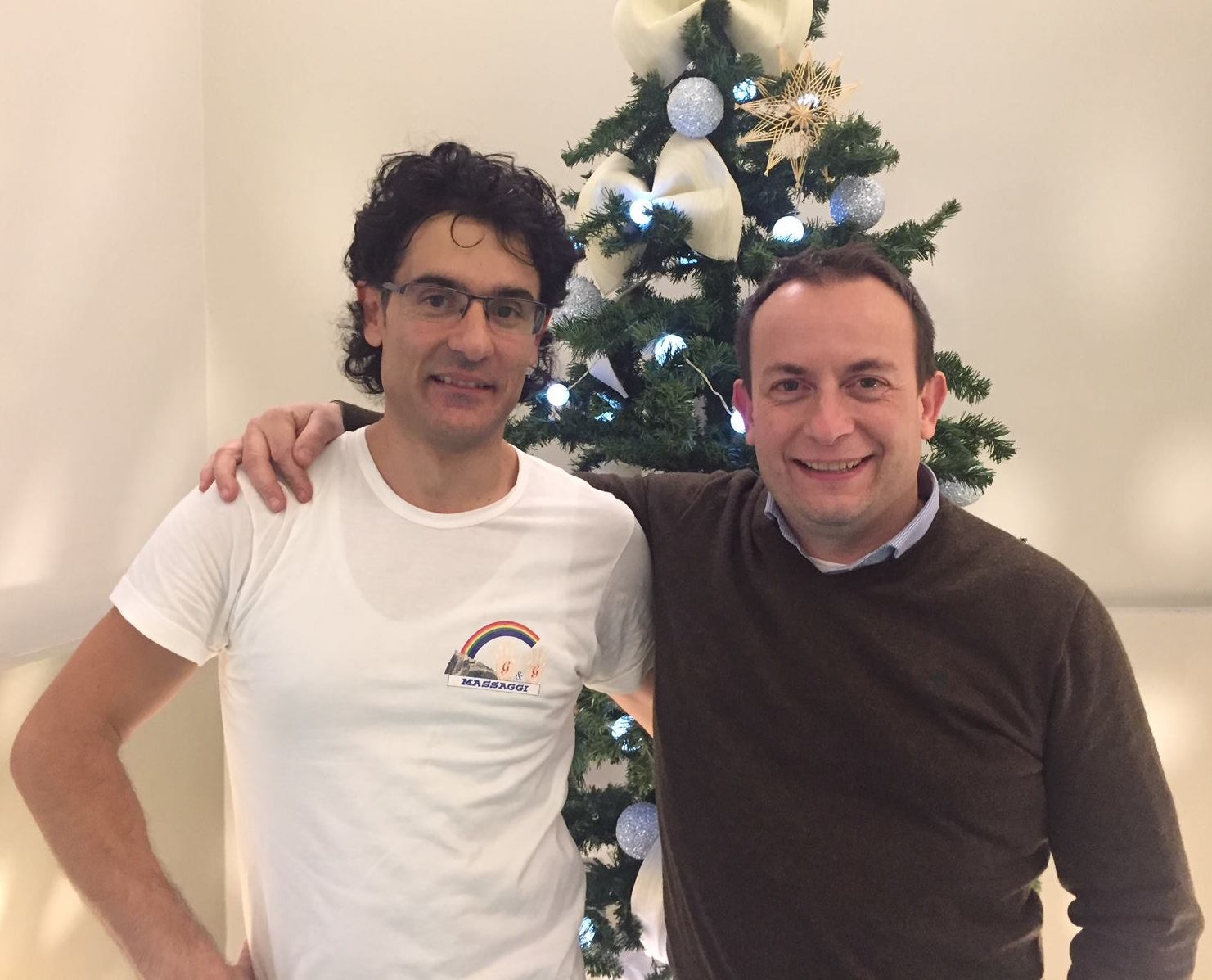 Gianfranco Zabatta (sinistra) con Paolo