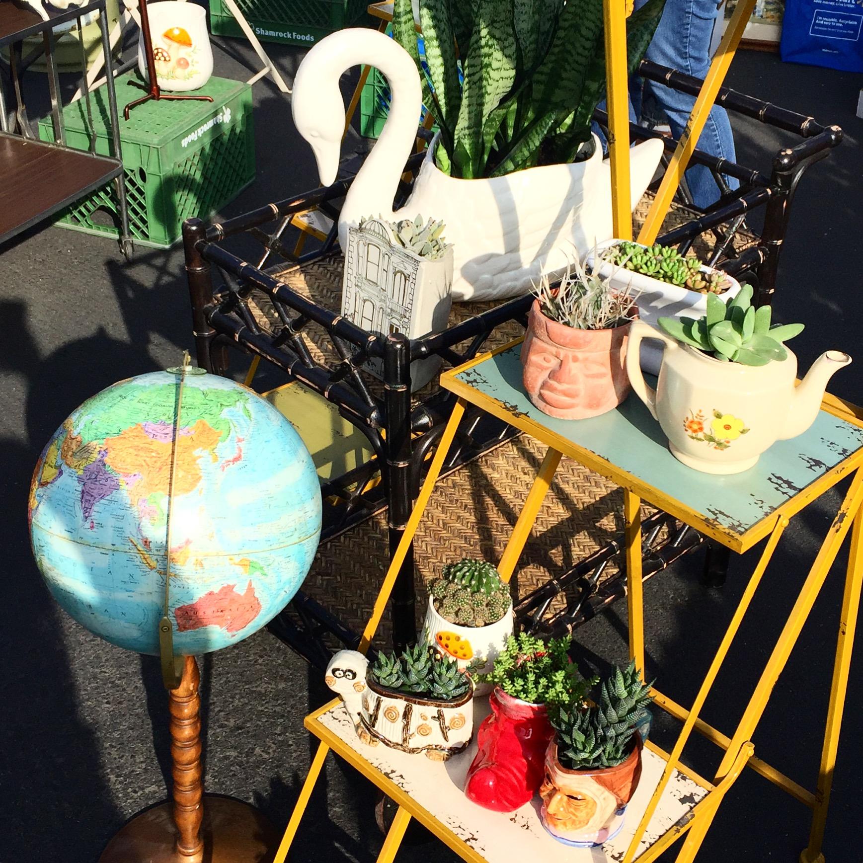 Long Beach Antique Flea Market shopping
