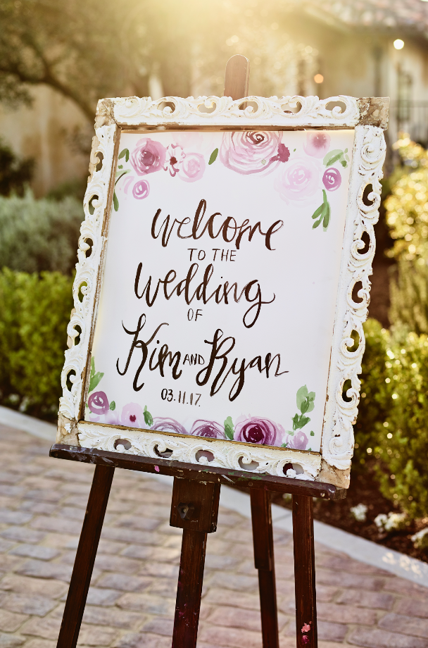 watercolor welcome sign ladyfolk studio