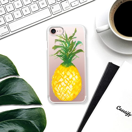 New Summer Pineapple Watercolor iPhone Cases!