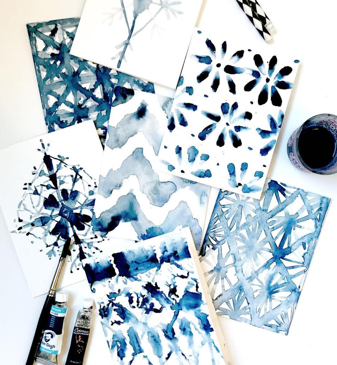 Shibori Watercolor Workshop by Ladyfolk Studio