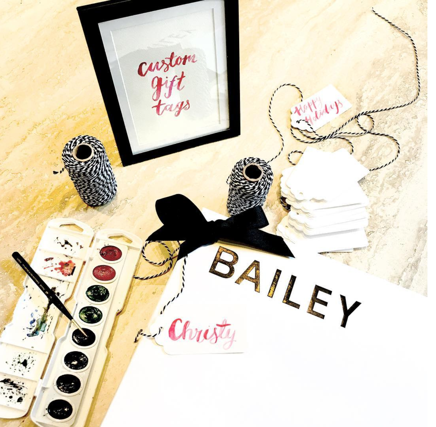 Bailey 44 Holiday Live Watercolor Art by Ladyfolk Studio