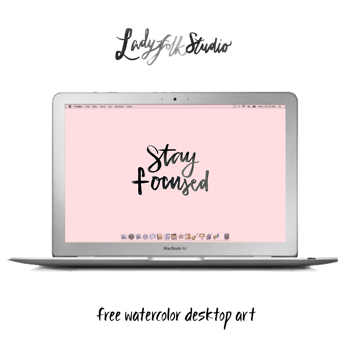 January Desktop Art Free Download from Ladyfolk Studio, Laguna Beach