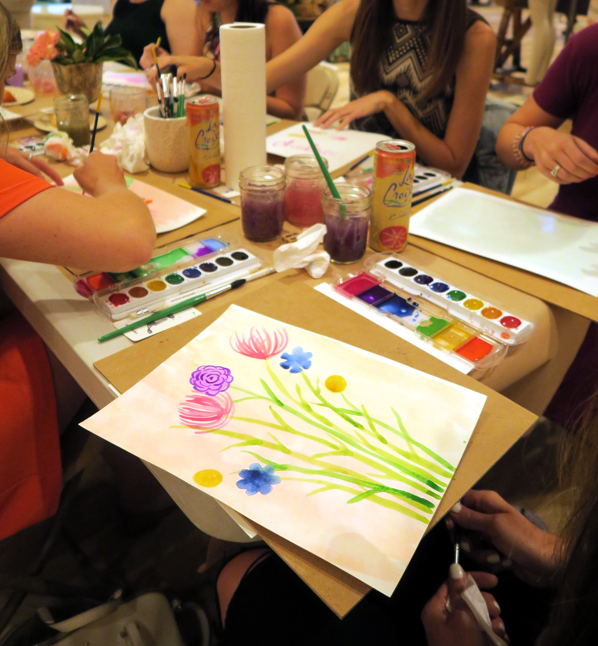 Painting Wildflowers with Watercolor and Wine by Ladyfolk Studio